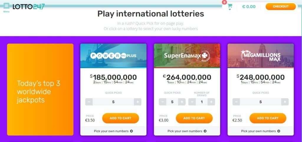 Lotto247 international lotteries